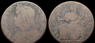 Colonial. Connecticut Cent, 1787, W-4110, Miller 37.3.i, R9 (SKU #US10-21)