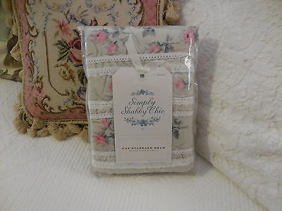 Rachel Ashwell Simply Shabby Chic Pink ROSES floral Crochet lace Standard Sham