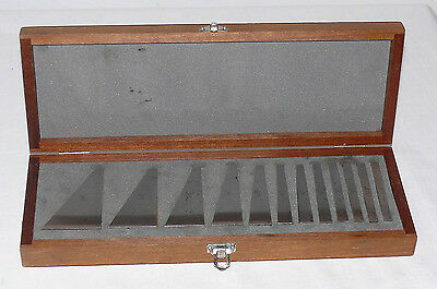 Machinists Angle Block Set 12 pcs. in Wooden Box, Made in Japan 1/4 to 30 degree