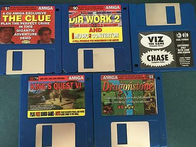 Commodore Amiga software disks various games and utilities #55