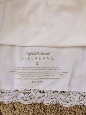Ingrid & Isabel Maternity Bellaband white, size 2 (M)