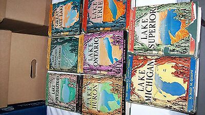 Vintage 8 book Lot of American Lakes Series HC 1st Edition 2 SIGNED Erie Ontario