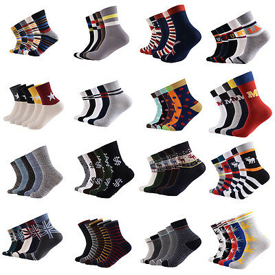 5 Pairs Men Polo Sport Style Striped Crew Cotton Dress Ankle Socks Low Cut Socks