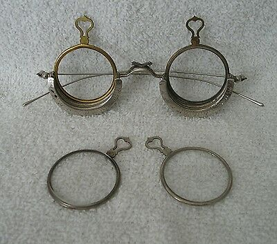 Trial or Optometrist Trial Half Frame Steampunk Style with clear lenses..