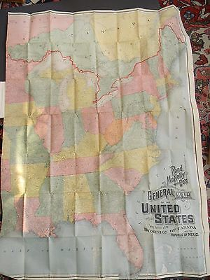LARGE ANTIQUE MAP of the EASTERN HALF of the UNITED STATES of AMERICA