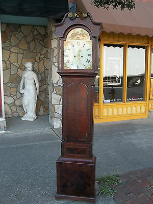 Outstanding English Mahogany Tall Case Clock 19th Century