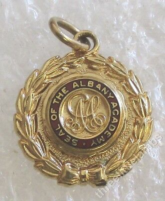 Vintage Seal of the Albany Academy - New York - School Class Charm