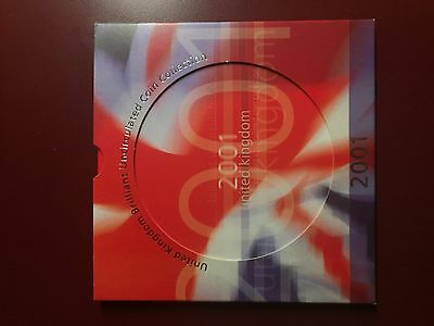 2001 United Kingdom Brilliant Uncirculated Coin Collection 8 coins Original Pack