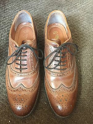 Stafford Men's Brown Leather Wing Tip Oxford Shoe Size 9 M