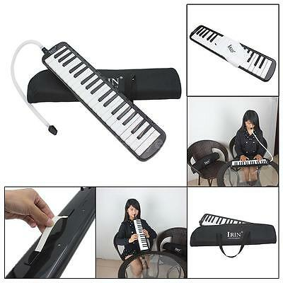 37 Piano Keys Melodica Pianica with Carrying Bag for Student Kid Gift Black M0D8