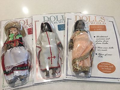 1 Full Set Of Dolls Of The World all but 3 still In Original pack