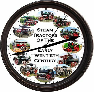 "New ""steam Tractors Of The Early Twentieth Century Wall Clock J.i. Case"