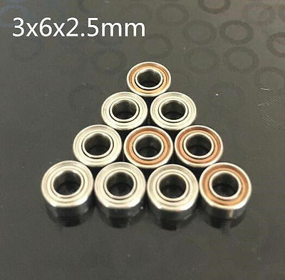 10pcs MR63ZZ 3x6x2.5mm Open Miniature Bearings ball Mini Hand Bearing Spinner A