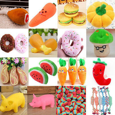 Hot Pet Dog Cat Squeaky Plush Chews Puppy Squeaker Sound Play Training Toys