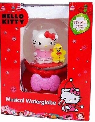 Hello Kitty Water Snow Globe New Sanrio Holiday Winter Christmas Gift Collect