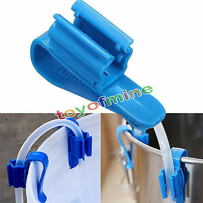 2Pcs Brew Clip Pipe Syphon Tube Hose Flow Control Wine Beer Making Clamp Holder