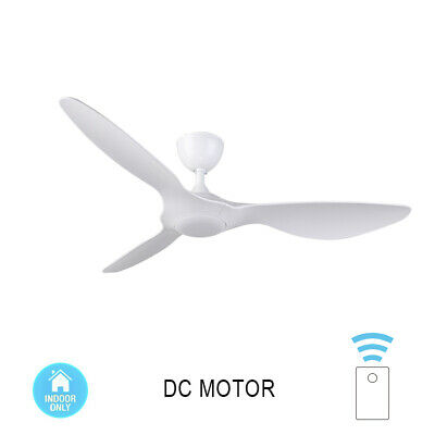 52'' DC Ceiling Fan Remote Control Streamline ABS Blade 1300mm