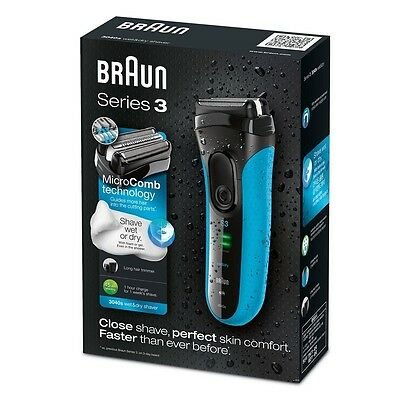Braun Series 3 ProSkin 3040s Rechargeable Wet&Dry Electric Shaver Blue