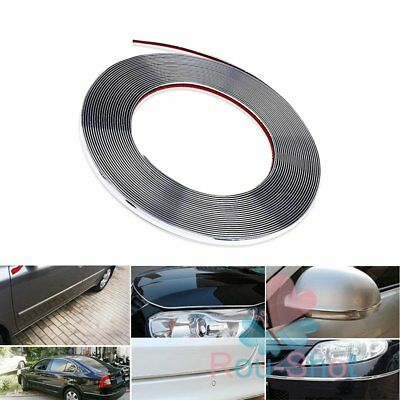 15M X 8mm Chrome Silver Moulding Trim Car Bumper Decoration Projector Strip【AU】
