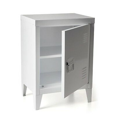 White Metal Locker Cabinet Storage Shelves Modern Office Bedroom Furniture New