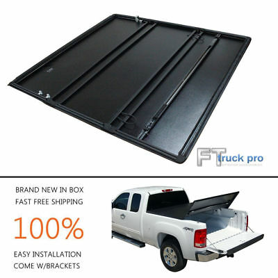 Tri-Foldable Lock Soft Tonneau Cover For 2004-2013 Ford F150 6.5ft / 78in Bed