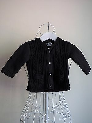 """Fred Bare"" Baby Boy Size 00 Black Cardigan -  Great Condition! Bargain Price!"
