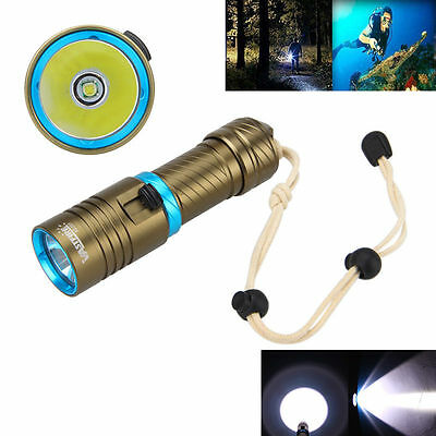 Diving Waterproof 10000 LM XML T6 LED Scuba Flashlight Torch Underwater Light