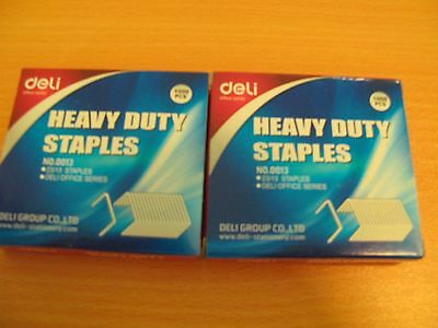 2 x 23/13 Heavy Duty Staples (2 x 1000/Box) Deli 0013 free post