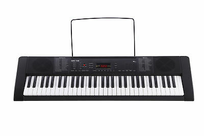 61 Key Electronic Music Electric Keyboard Piano Keyboard Black w/ Z Stand