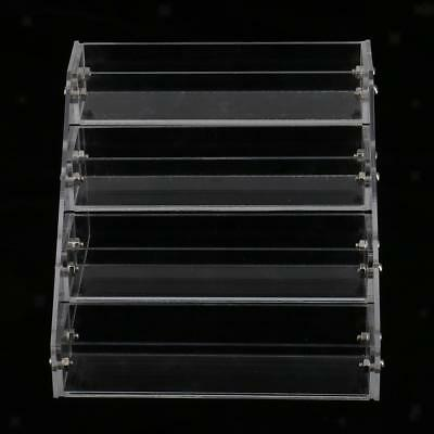 4 Tiers 20 Bottles Clear Acrylic Nail Polish Varnish Display Stand Holder