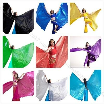 NEW Dance Isis wings Open &Close India Egypt Belly Dance Costumes Isis Wings