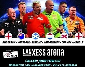 Cologne Darts Gala Tickets + AfterShowParty + Schal + Extras GANZ VORNE !!!