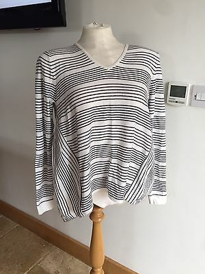 *French Connection* Black And White Jumper  L 10-12