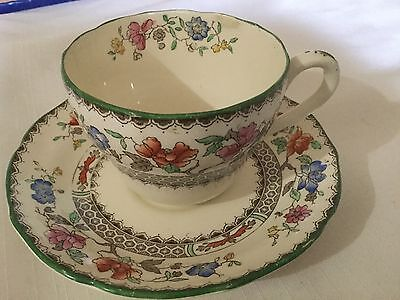 Copeland. Spode  Cup And Saucer England  Reg# 629599 Chinese Rose