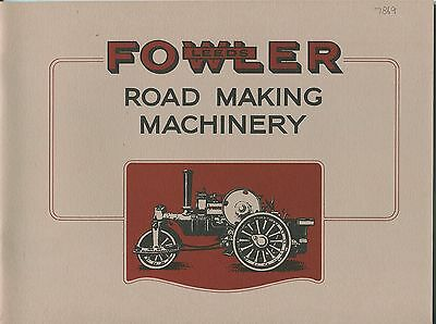 Fowler Road Making Machinery catalogue reprint