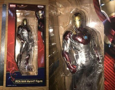 "BANPRESTO Spider man Homecoming Iron Man Mark 47 12"" Oversea Limited Ver Figure"