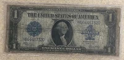 1923 $1 One Dollar Large Silver Certificate Blue Seal