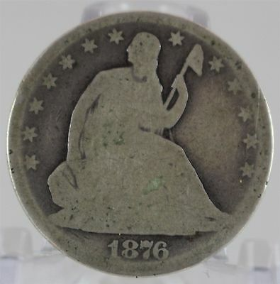 1876 Seated Liberty Half Dollar US Silver Coin