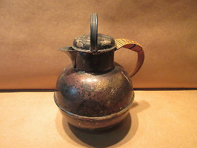 Vintage Apollo EPNS Bernard Rice Sons Tea Pot with Bamboo Handle #2213