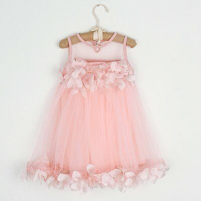 Baby Flower Girl Pageant Wedding Party Lace Princess Tulle Tutu Dresses Clothes