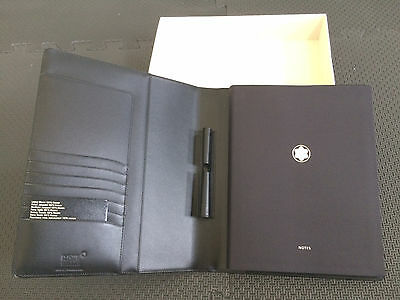Never Used !! Montblanc Meisterstück Notebook  - Black Leather