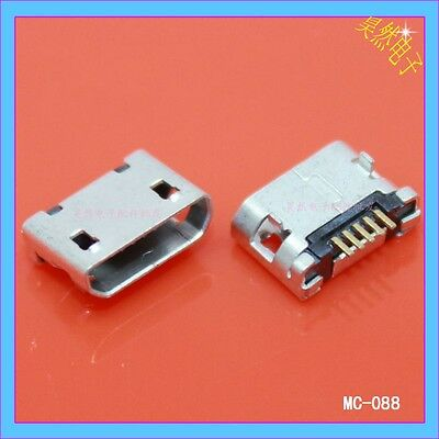 5Pcs 5 Pin Micro USB Female Port Socket Connector Repair for Mobile Power Supply
