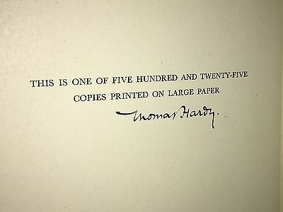 *extremely Rare* The Dynasts Vol 1 & 2 Signed By Thomas Hardy Autograph