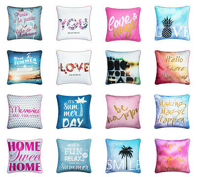"Luxury 18"" Printed Vintage Linen Pillow Case Cushion Cover Home Sofa Bed Decor"