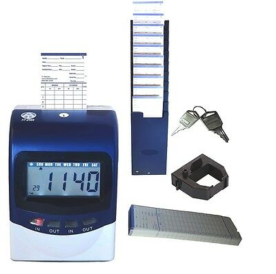 AT-2500 employee time clock with free time cards and card holder