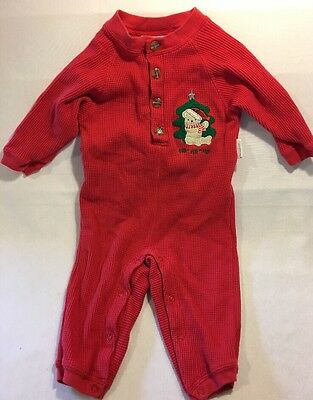 Vitamins Baby Boys Red 100% Cotton Christmas Pajamas Size 18 Months