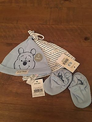Baby Boys Hats And 0-3months Booties - BNWT