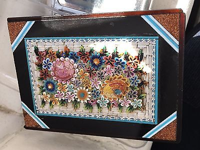 Antique Floral Micro Mosaic Paperweight Italian Grand Tour