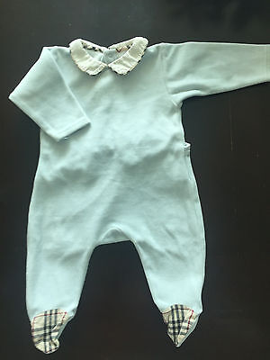 Pyjama Babygrow Sleepwear Burberry light blue 3 months Baby Girl Boy