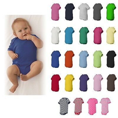 Rabbit Skins Baby Boys/Girls Plain Basic Creeper Bodysuit Snapsuit NB-24M - 4400